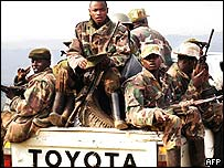 Renegade Congolese soldiers from the RCD