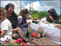 Funeral of nun Irina Cornici