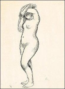 Renoir's Jeune Femme Nue Aux Bras Leves