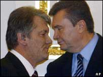 Víctor Yúschenko y Víctor Yanukóvich