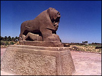 The ancient ruins of Babylon - another of Iraq's treasured sites