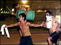 Argentine demonstrators