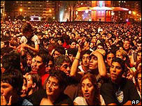 Argentines in a rock festival