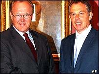 Goran Persson and Tony Blair