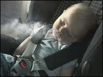 Child exposed to smoke