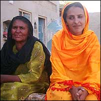 Mukhtar Mai with her mother