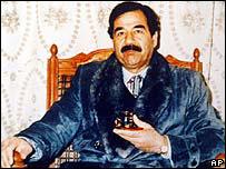 Saddam Hussein durante sus años en el poder