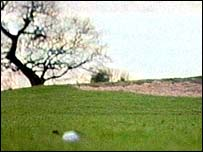 Golf being played on the Wirral golf course