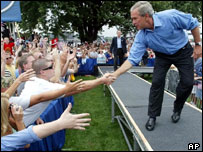 President Bush on the campaign trail