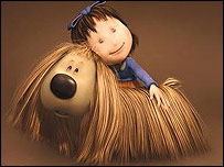 Florence and Dougal in the forthcoming Magic Roundabout movie