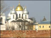 A church in the city of Novgorod