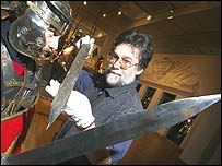 A roman sword at the Royal Armouries in Leeds