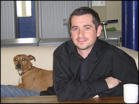 Mike Bennett, E3 joint managing director, and Molly the dog