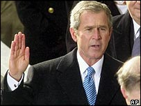 George W Bush's first inauguration in January 2001
