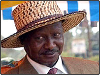 Ugandan President Yoweri Museveni
