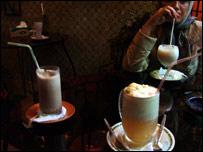Customers at Tehran speakeasy