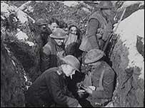 Британские солдаты в окопах Первой мировой войны