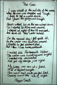 Poem about the sea by Isambard Brunel School pupil