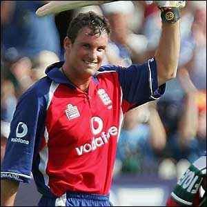 Andrew Strauss gets out off the penultimate ball of the innings as England record their best ODI score