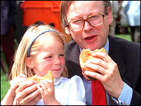 John Gummer with daughter Cordelia