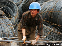 A Chinese migrant worker