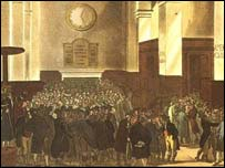 Traders were expelled from the Royal Exchange for being too rowdy