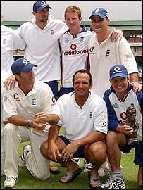 England celebrate victory