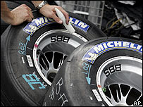Michelin tyres at the US Grand Prix