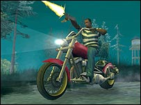 Screenshot of GTA: San Andreas video game