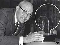 Mr Kilby, inventor of the integrated circuit