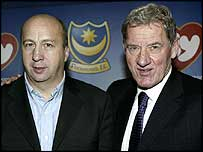Velimir Zajec (left) and Portsmouth chairman Milan Mandaric