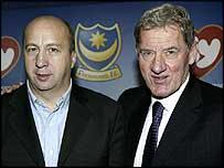 Velimir Zajec (left) and Portsmouth chairman Milan Mandaric