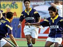 Indian hockey stars Halappa Arjun and Viren Rasquinha