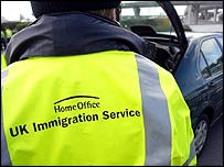 An immigration staff worker