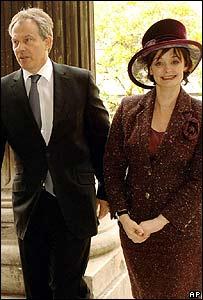 Tony y Cherie Blair