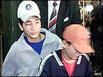 Alamdar and Muntazer Bakhtiyari at the time of their escape in 2002