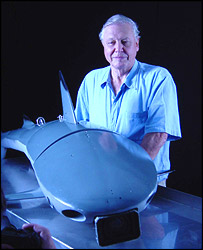 David Attenborough with Roboshark, Andrew Sneath