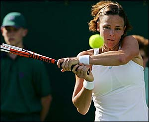 Lindsay Davenport in action