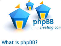 Screengrab of phpBB website, phpBB