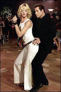 Uma Thurman and John Travolta in Be Cool