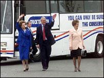 Margaret Thatcher and John Major