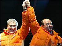 Calin Tariceanu and Traian Basescu