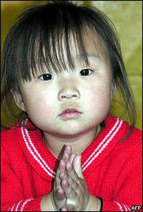 Girl in a North Korean nursery. File photo