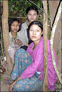 Villagers from Burma's ethnic Karen minority (photo taken by rebels)