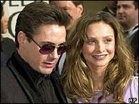 Robert Downey Jr and Calista Flockhart