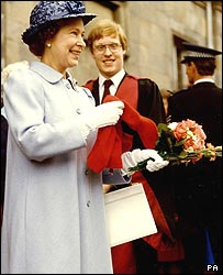 The Queen at St Andrew's University 23 years ago