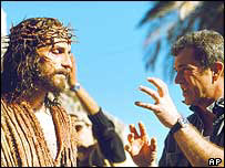 Mel Gibson on the set of The Passion of the Christ