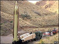 Iran testing a Shahab-3 ballistic missile in October 2004
