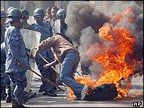 Anti-king protest in Kathmandu