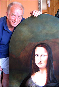 Roy Guy and his interpretation of the Mona Lisa